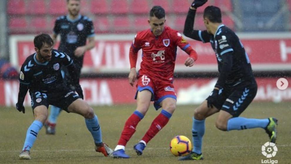 Alain Oyarzun, en un partido de esta temporada.