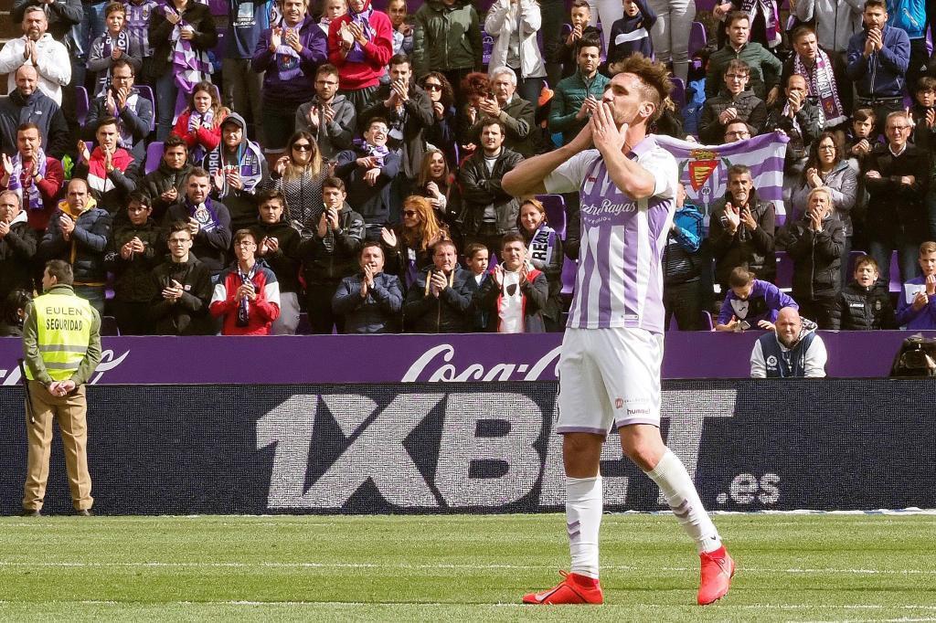 Borja Fernandez after his final match as a professional football...