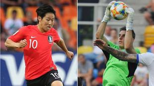 Kangin Lee y Lunin, en el Mundial sub 20