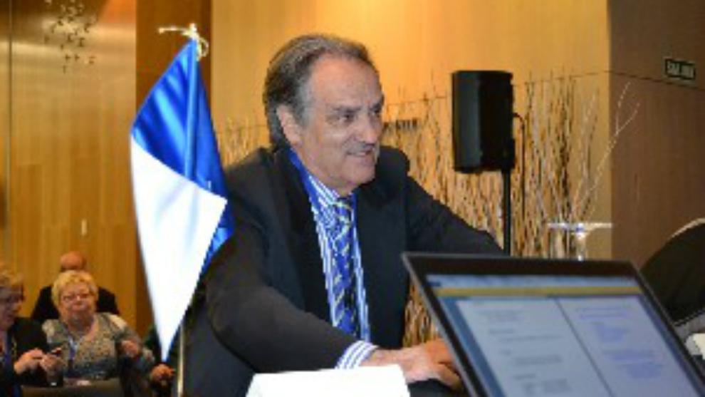 Óscar Fle, presidente de la Federación Aragonesa de Fútbol.