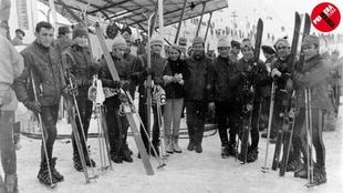 El equipo español, en Grenoble (1968)