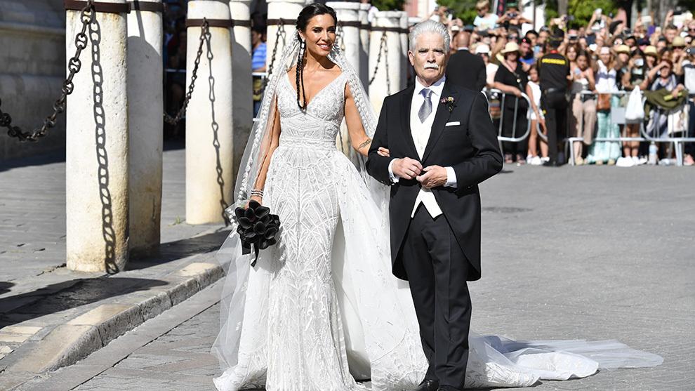 El Vestido De Novia De Pilar Rubio De Blanco Pero Con Un