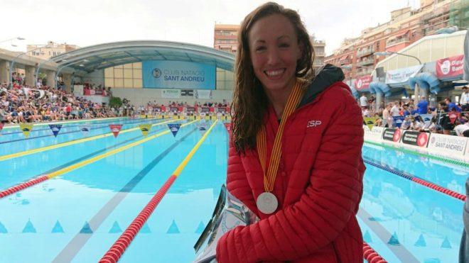 Jessica Vall, tras conseguir su mínima mundialista en los 200 m...