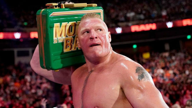 Brock Lesnar en Money in the Bank.