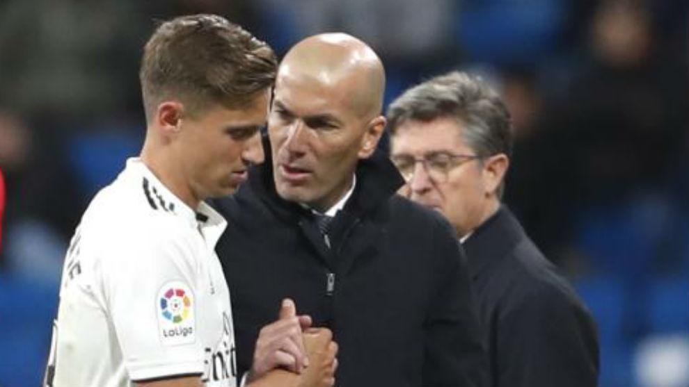 Zidane y Marcos Llorente.