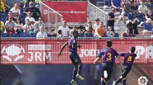 Landry celebrates goal in the semi-final