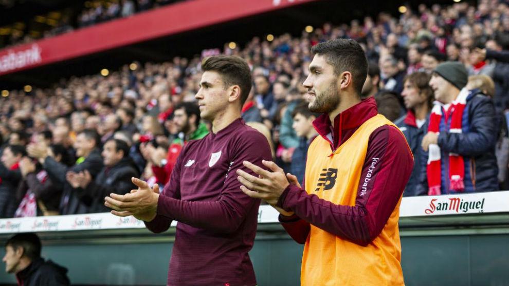 Unai Simón y Unai Núñez en el Athletic-Valencia.