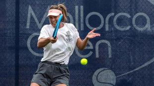Maria Sharapova, entrenando en las instalaciones del Mallorca Open.