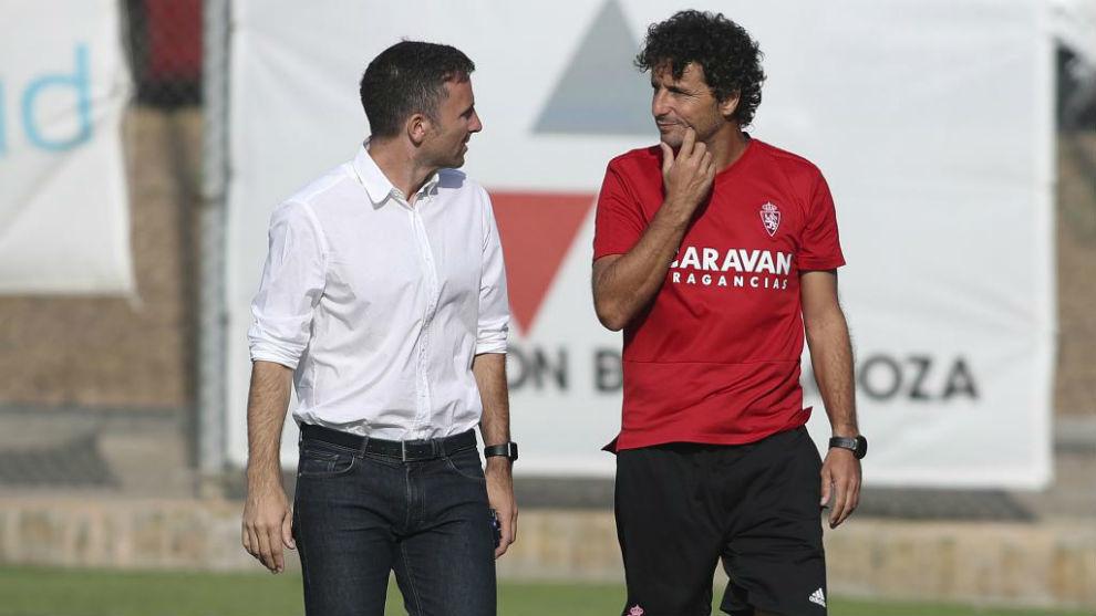 Lalo e Idiakez charlan en la Ciudad Deportiva.