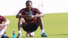 Hugo Rodallega durante un entrenamiento.