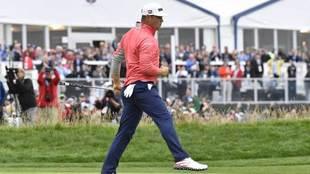 Gary Woodland, en la jornada final del US Open.