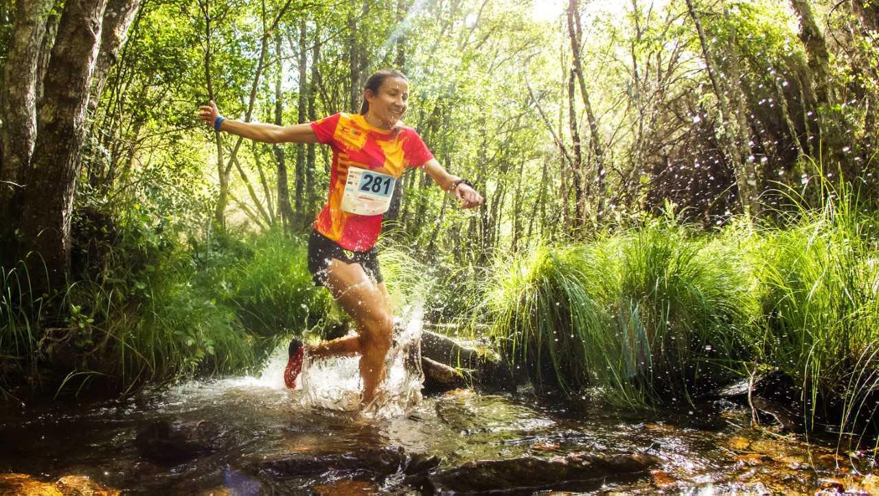 María Díez, ganadora del trail corto.