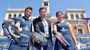 Sanyo Gutiérrez, Óscar Puente y Delfina Brea.