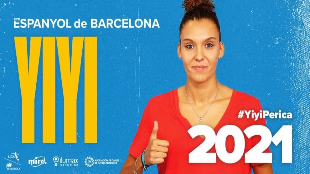 Yiyi posa para los medios oficiales del Espanyol.