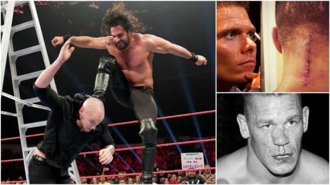 Imagen principal de Seth Rollins, Tyson Kidd (arriba) y John Cena...