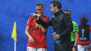 Virgina Torrecilla, con Jorge Vilda.