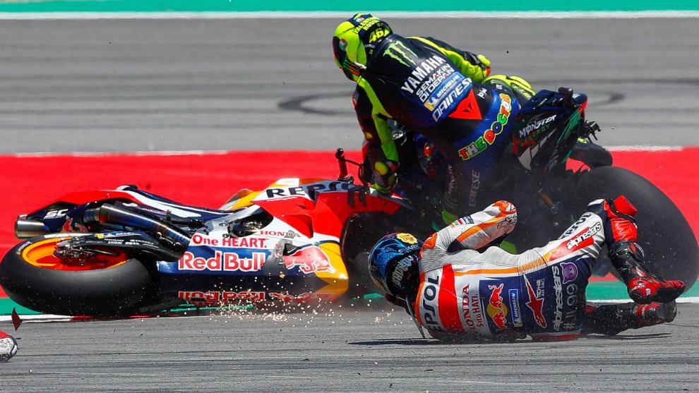 Rossi no puede evitar a Lorenzo.