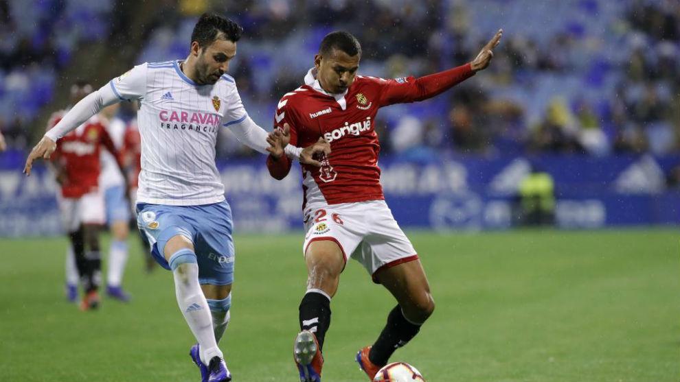 Luis Suárez con Guitián en La Romareda