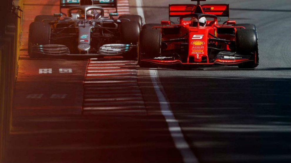 La polémica maniobra de Vettel y Hamilton.