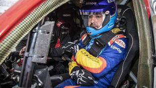 Alonso, durante su test en Sudáfrica con Toyota.