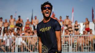 Antomi Ramos celebra un triunfo en el Mundial