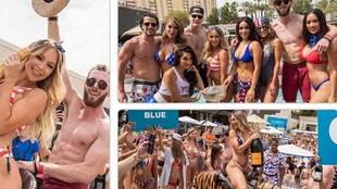 Los jugadores de los St. Louis Blues celebraron su triunfo en la...