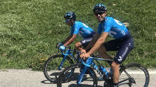 Mikel Landa y Nairo Quintana, estos días en los Alpes.