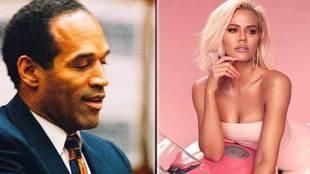 O. J. Simpson y Khloe Kardashian