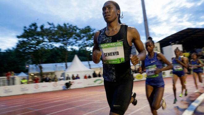 Caster Semenya, en competición