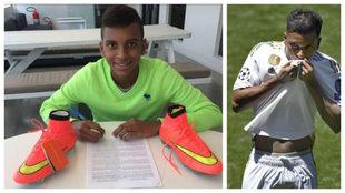 Rodrygo firmó con Nike con 11 años.