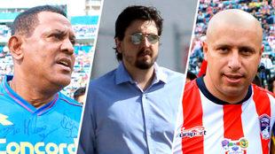 Antonio Carlos, Amaury Vergara y el Bofo.