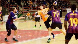 Eduardo Fernández, durante un partido con el Torrelavega /