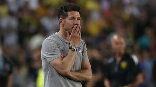 Simeone during the team's recent friendly in Israel.
