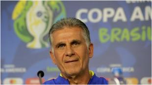 Carlos Queiroz, en rueda de prensa.