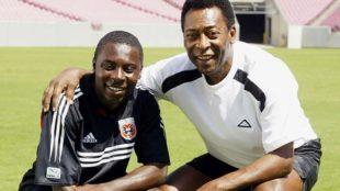 Freddy Adu y Pelé.