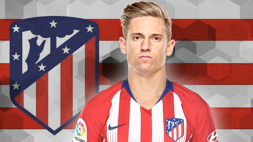 Marcos Llorente in Atletico Madrid's shirt.