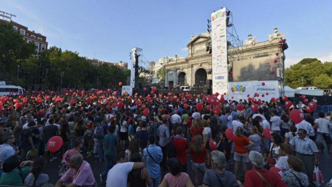 La calle de Alcalá el 7 de septiembre de 2013 día de la votación de...