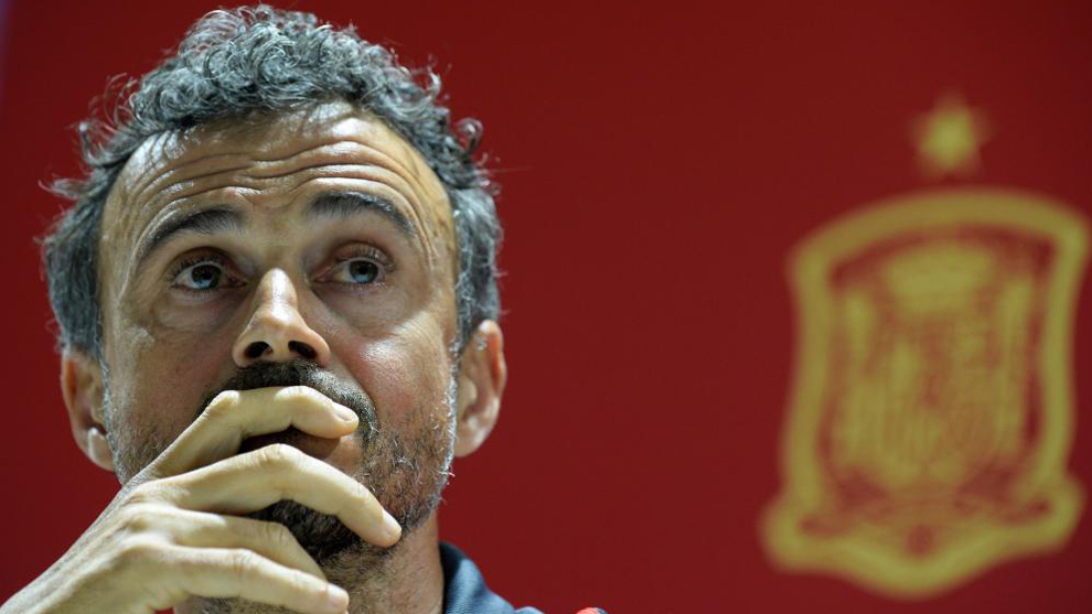 Luis Enrique during his spell as Spain head coach.