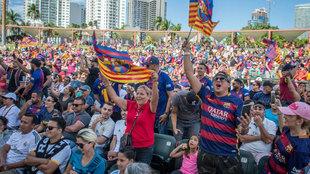 Barcelona fans in Miami