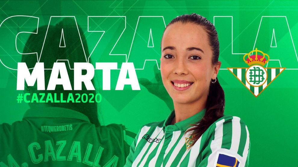 Marta Cazalla, nueva jugadora del Betis Féminas