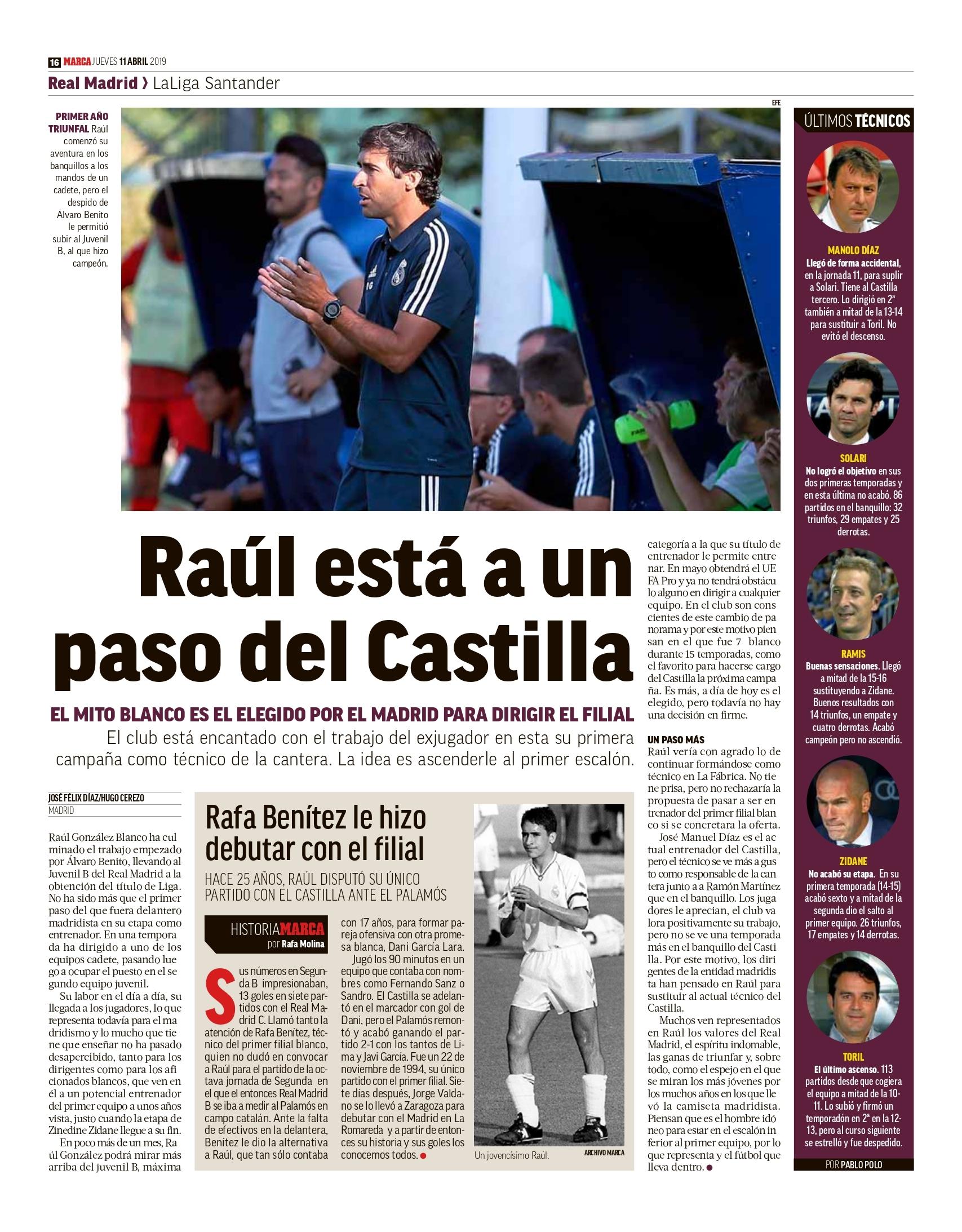 Raúl entrenará al Castilla la próxima temporada — Oficial