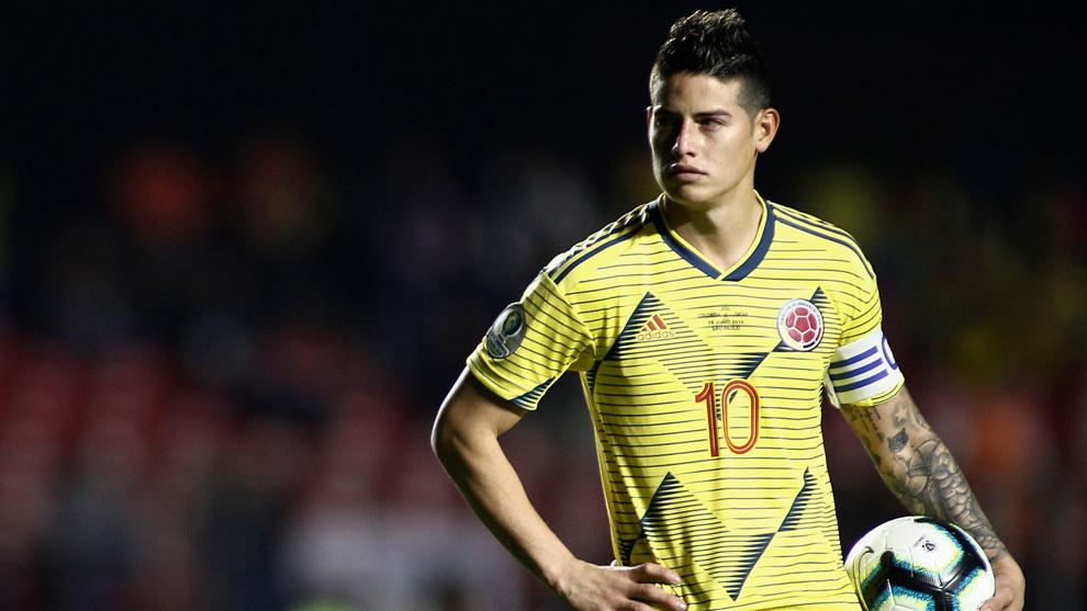 James, con su selección en la Copa América.