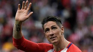 Fernando Torres, el día de su despedida con el Atlético