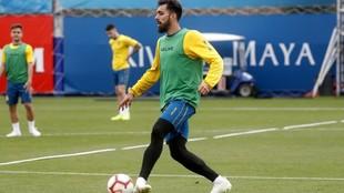 Borja, durante un entrenamiento en la Ciudad Deportiva.