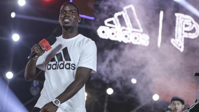 Paul Pogba at a recent event in Asia for Adidas.