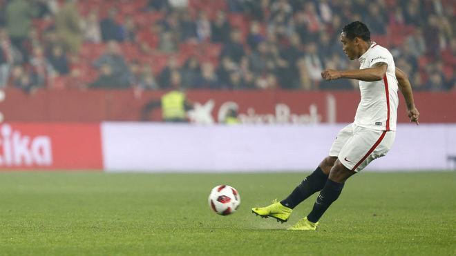 Muriel, en un partido con el Sevilla.
