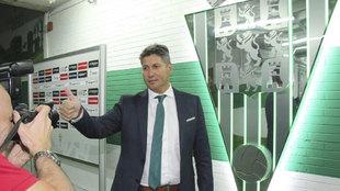 Alfonso Serrano en su presentación como Director Deportivo del...