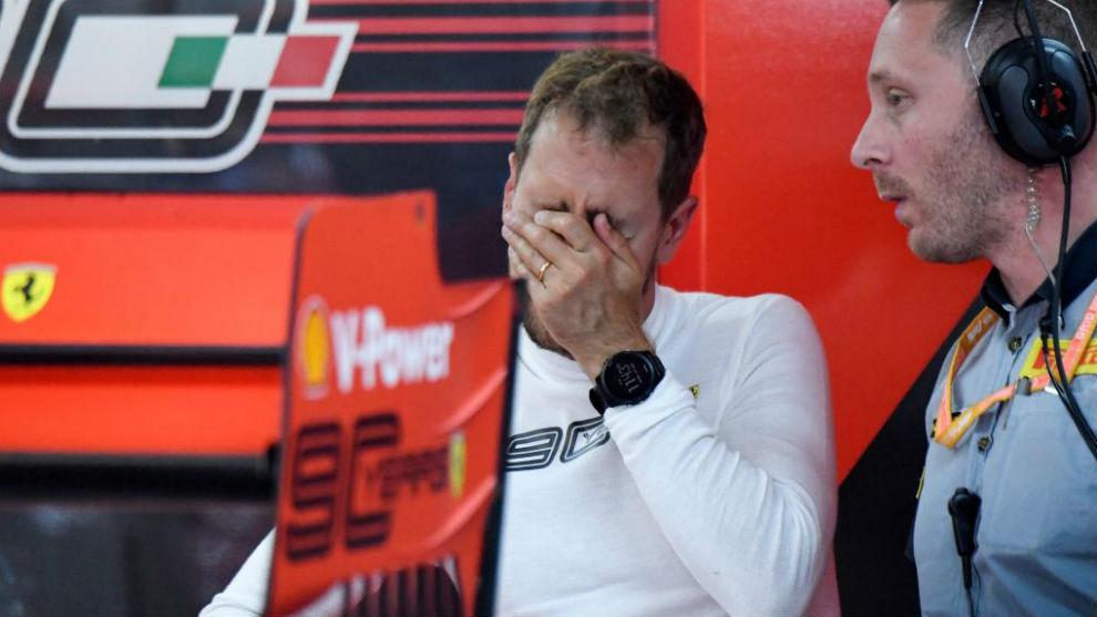 Vettel, en Francia.