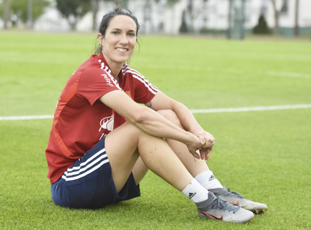 Silvia Meseguer posa para MARCA en el Mundial de Francia.