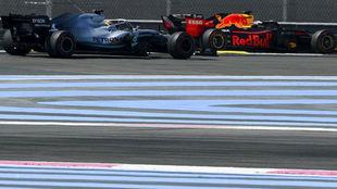 Hamilton y Verstappen.